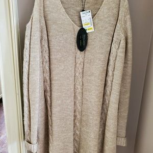 Cold shoulder sweater, new with tags